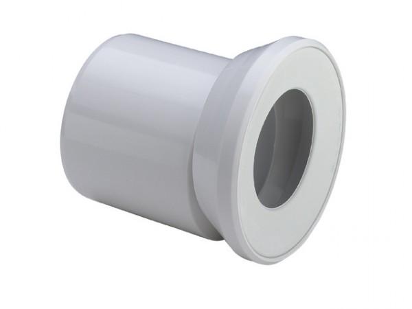 Viega WC-Anschluss-Stutzen 3815.1, DN 100 x 155mm, exzentrisch, weiss