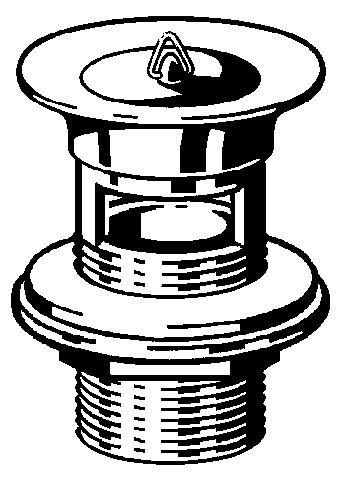 Viega Schaftventil 11/4 x 60 x 70mm, Mod. 5222.1, m. Ueberlauf