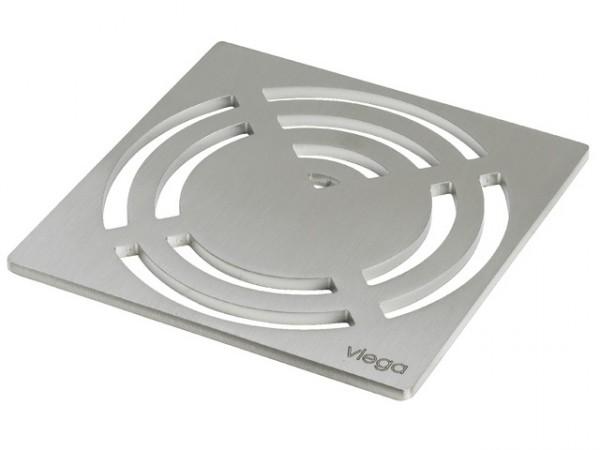 Viega Rost Visign RS3, 4929.3, 143 x 143mm, 492342, aus Edelstahl massiv