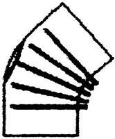 FAL-Bogen 130 mm, 45°, gerippt, ohne Tür