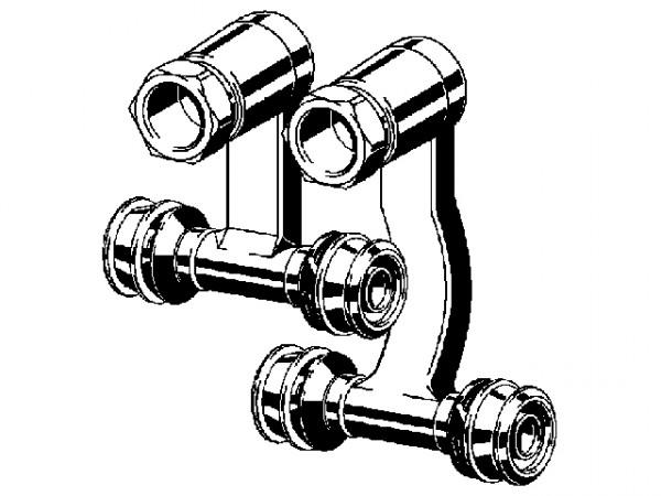 Viega Raxofix Sockelleisten-Heizkörper-Anschluss, Mod. 5373, aus Messing