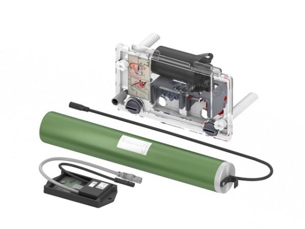 TECEplanus WC-Fernauslösung, Funk für Stützklappgriffe, 6 V-Batterie