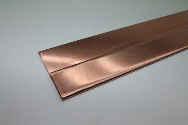 Kupfer-Fussblech, Zuschnitt: 125 x 0.70 mm, 2 Kantungen, L: 2m