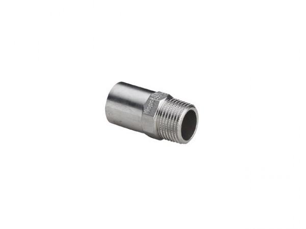 Viega Sanpress-Inox Einsteckstück, Mod. 2311.1, m. R-Gewinde (aG), aus nichtrostendem Stahl