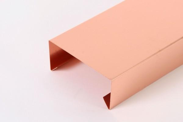 Kupfer-Mauerabdeckung, L: 3 m