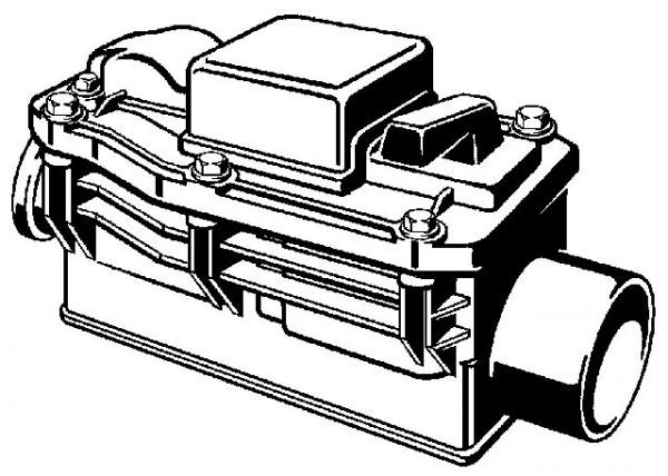 Viega Grundfix Rückstausicherung, Mod. 4987.3, m. 2 autom. Betriebsverschluessen