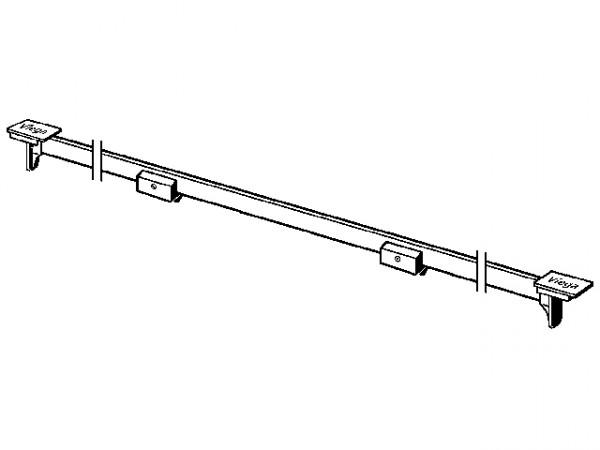 Viega Stegrost Visign SR1 4965.30, 300-1200mm, 686284, Abdeckkappen matt