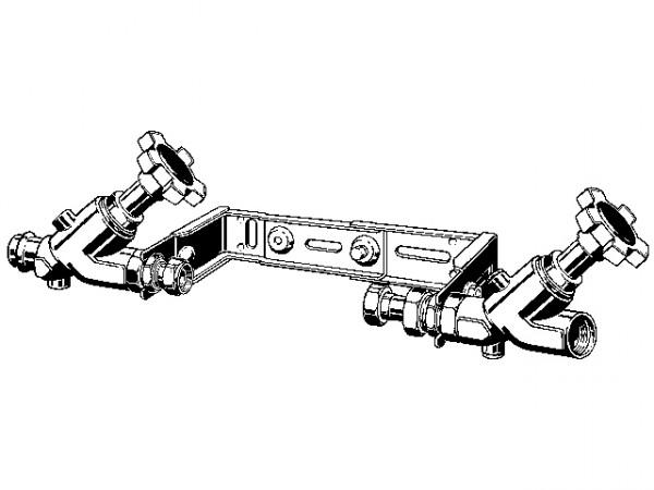 Viega Easytop WZ-Montage-Einheit 2230.12, 28 x 1 629878, aus Edelstahl