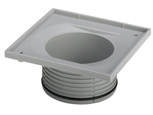 Viega Aufsatzrahmen 4912.2, 150x150mm, 534493, m. Kunstst.-Rahmen, Rost 143x143 mm