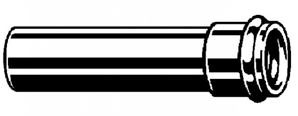 Viega Verlängerungsrohr 5694, 32 x 125mm 102647, m. Muffe, m. O-Ring, verchromt