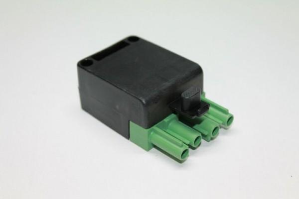 Stecker 4-polig, grün/schwarz