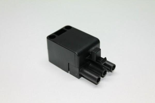 Stecker 3-polig, schwarz