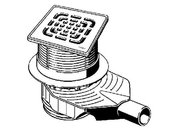 Viega Badablauf Advantix Top, Mod. 4914.11, Aufsatz 150x150mm