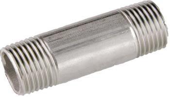 "Edelstahl Rohrdoppelnippel 1.4571  1//2/"" L= 60mm Gewinde Gewinde-Fitting"