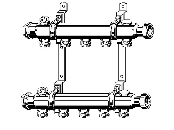 Viega Raxofix Verteiler, Mod. 1078, Edelstahl