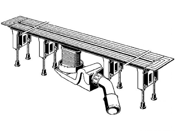 Viega Grundkoerper Advantix Vario 4965.10, 300-1200mm, 686277, f. Duschrinne