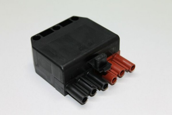 Stecker 6-polig, schwarz/braun