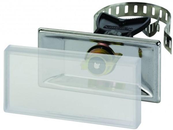 Simplex Universalhalter aus Edelstahl, 100 x 50 mm