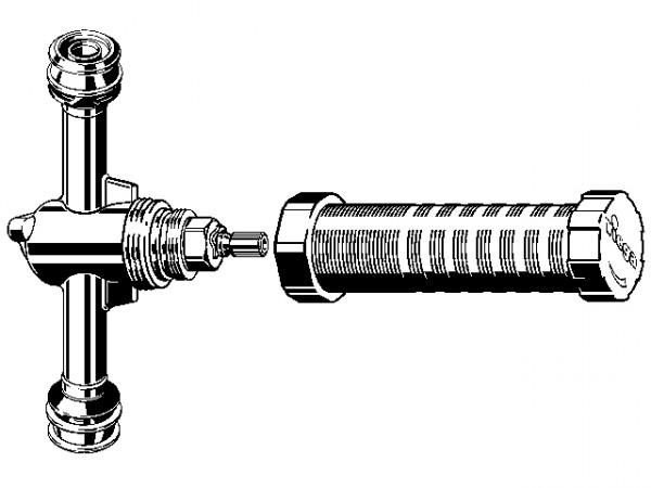 Viega Easytop UP-Ventil, Mod. 5340, aus Rotguss