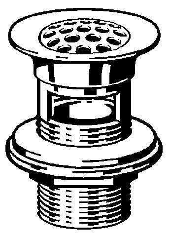 Viega Schaftventil, Mod. 5226.1, mit Sieb, mit Überlauf