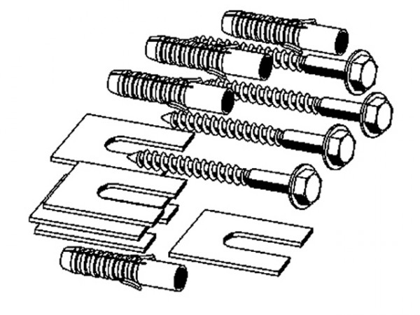Viega Steptec Befestigungs-Set 8409, 611347, M 8 x 70