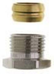 Heimeier Klemmverschraubung vernickelt, für Cu- u. Stahlrohr 15 mm und Rp 1/2 IG