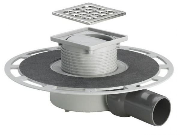 Viega Badablauf DN 50, Mod. 4936.4, m. Aufsatz 100x100mm