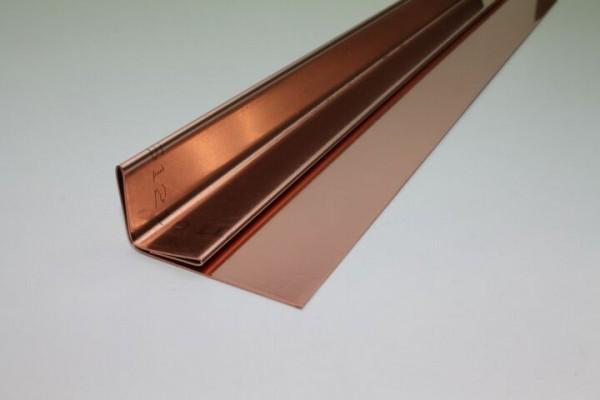 Kupfer-Einschubleiste Winkelform, Zuschnitt: 150 x 0.70 mm, 4 Kantungen, L: 2m