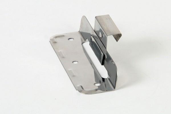 Edelstahl-Schiebehafte vormontiert, H: 25 mm f. Winkel- u. Maschinenfalz