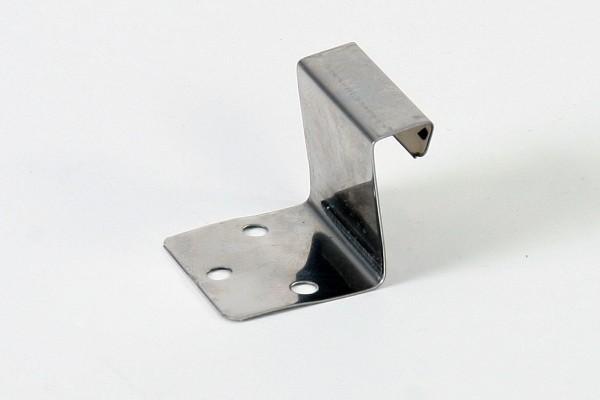 Edelstahl-Festpunkthaft, H: 25 mm f. Winkel- u. Maschinenfalz