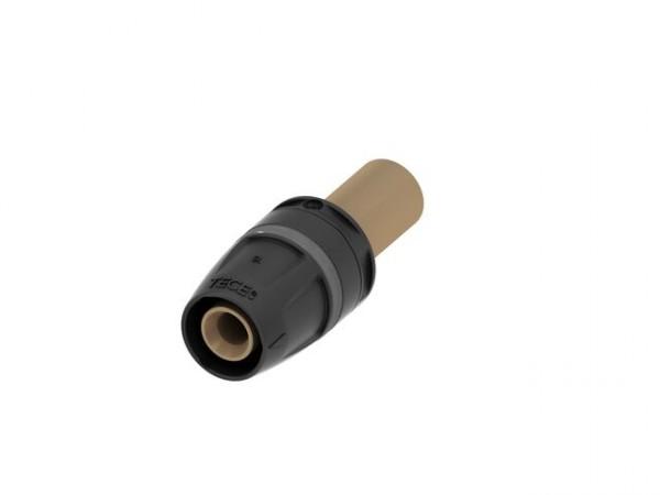 TECElogo Pressübergang auf Kupfer-Rohr