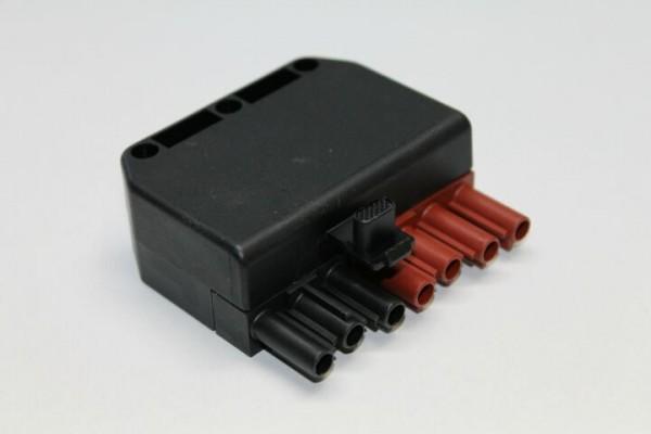 Stecker 7-polig, schwarz/braun