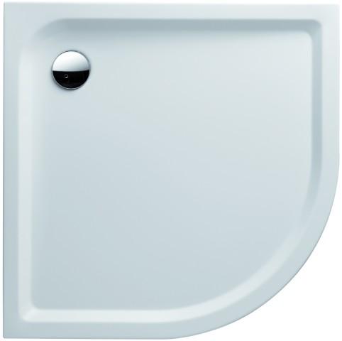 Keramag Eckrund-Duschwanne iCon 1000x1000mm weiß(alpin)