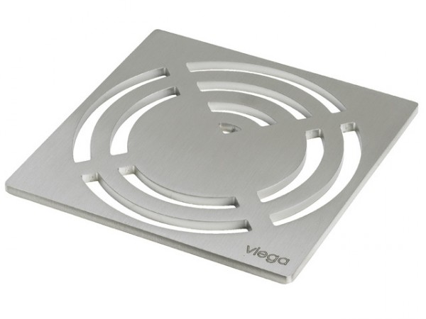 Viega Rost Visign RS3, 4929.3, 143x143mm, 492342, aus Edelstahl massiv