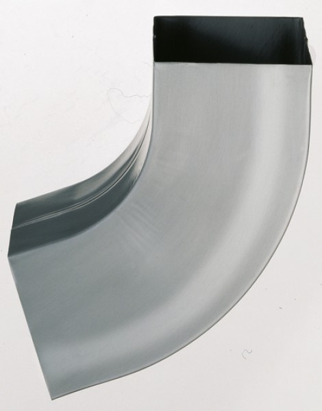 Dachrinne titanzink vorbewittert  Titanzink-Kasten-Fallrohrbogen, RZ vorbewittert, 5-tlg./100x100mm ...