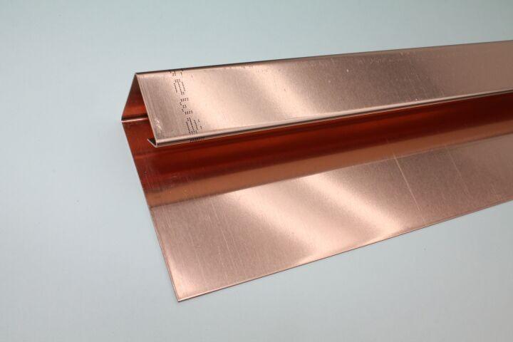 Fantastisch Kupfer-U-Profil, Zuschnitt: 150 x 0.70 mm, 3 Kantungen, L: 3m  QY06