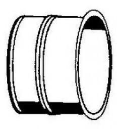 FAL-Wandfutter einfach, lang 130 mm