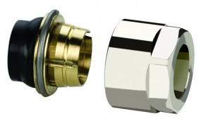 Simplex Anschluss-Set F11, verchromt, 15 x 1 mm, 3/4